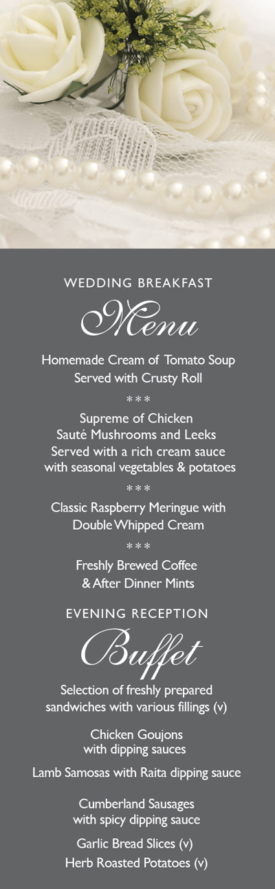 Midweek menu graphic