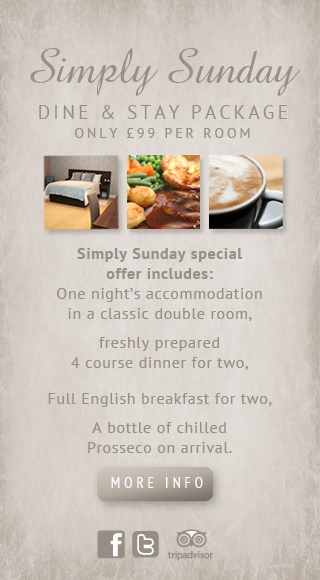 Simply Sunday Package Dine and Accommodation